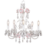 Blossom Chandelier in Pink and White