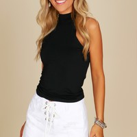 Distressed Denim Lace Up Skirt White