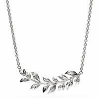 sterling leaves necklace