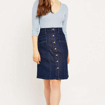 Urban Outfitters Pintuck 70s Denim A-Line Skirt - Urban Outfitters