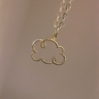 Cloud Necklace - Sterling Silver - Small - Charm Necklace - Gift For Her - Best Friend - Mom - Long Distance