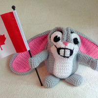 CROCHET PATTERN only - 2-in-1 HA! Handy Helpers  Hamster & Bunny - Amigurumi Holder for Crochet hooks, Flags, Pencils, Candy, Signs, Display
