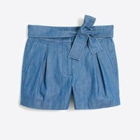 "3"" chambray tie-waist short : FactoryWomen Shorts 