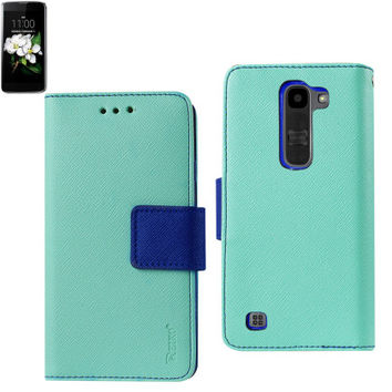 Lg M1/Lg K7 3-In-1 Wallet Case With Interior Leather Like