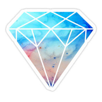 Watercolor Diamond Decal