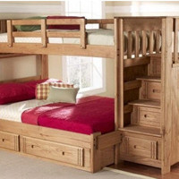 Sibley Twin over Full Upstairs Downstairs Loft Bed