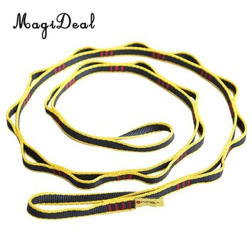 MagiDeal New 22KN Nylon Rock Climbing Tree Rigging Sling Rope Webbing Strap Gear Safety Climbing Belt Equipment Acce Yellow/Red