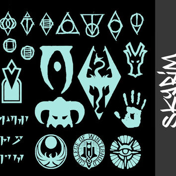 Skyrim, Bethesda, Elder Scrolls, Thieves Guild, Dragon Shout, Oblivion, Vinyl Sticker, Vinyl Decal, PICK ONE~