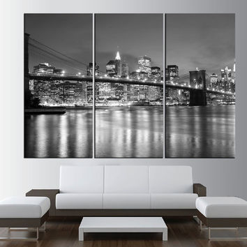 New York city Canvas wall art, extra large wall art, canvas gallery art, new york wall art print, new york canvas art print t453