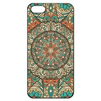 Mandala Pattern Iphone 5 5s Hard Back Shell Case Cover Skin for Iphone 5/5s Cases Minority Totem Floral Flower - Black/white/clear