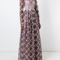Dolce & Gabbana Floral Embroidered Gown - Julian Fashion - Farfetch.com