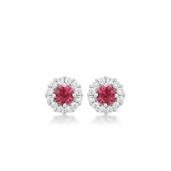 Bella Bridal Earrings In Pink