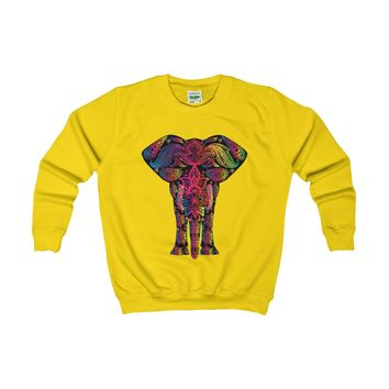 The Tribal Elephant 67 Kids Sweatshirt