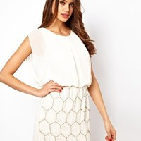 TFNC Dress with Jewelled Skirt and Chiffon Top at asos.com