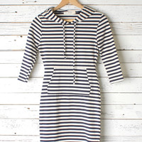 Aurora Nautical Hooded Dress