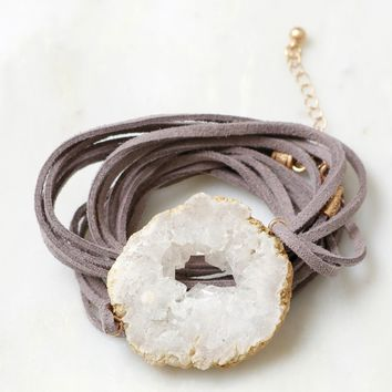 Skipping Rocks Wrap Bracelet Grey