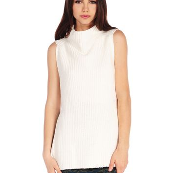 RD Style Cowl Neck Sleeveless Sweater