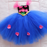 Baby Frozen Anna Tutu Dress for Baby Girl 9-24 Months First Halloween Costume