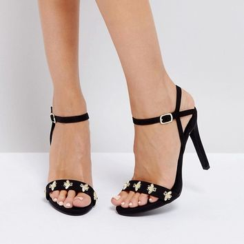 New Look Bee Embellished Heeled Sandal at asos.com