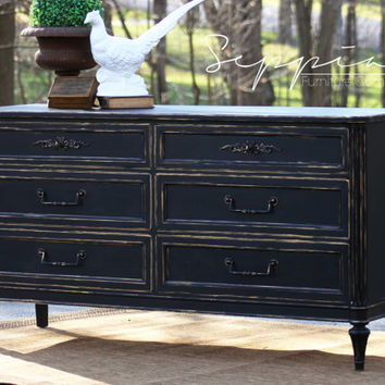 Black and Gold French Dresser