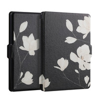 Case for Kindle Paperwhite 1 2 3, Orchid series Lighted Slim Pu Leather Cover Fit Kindle Paper white 2013 2015 2016
