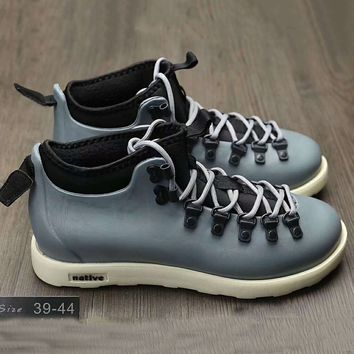 Native Fitzsmmons boots for men shoes waterproof Martin boots lovers Grey+Black G-A0-HXYDXPF