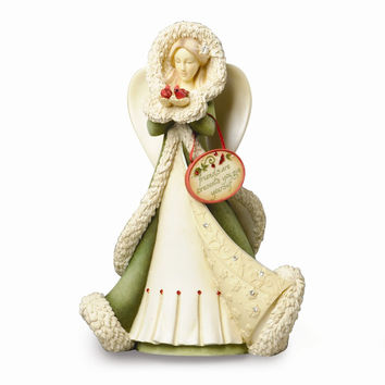 Heart of Christmas Angel with Cardinals Figurine - Perfect Christmas Gift