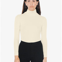 2x2 Rib Turtleneck Top | American Apparel