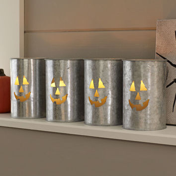 Birch Lane Galvanized Tin Jack-o'-Lanterns
