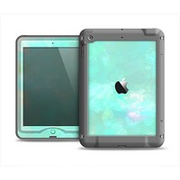 The Bright Teal WaterColor Panel Apple iPad Mini LifeProof Nuud Case Skin Set