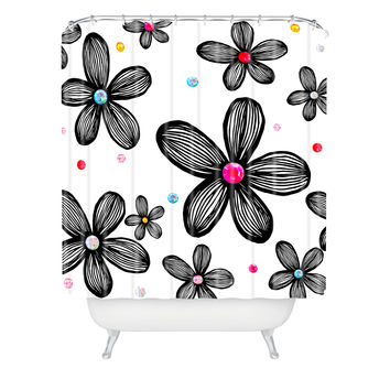 Natalie Baca Rhinestone Garden Shower Curtain