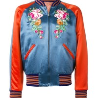 Indie Designs Embroidered Appliqué Bomber Jacket