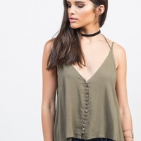 Strappy Button Up Tank