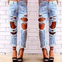 Fashion Ripped Jeans