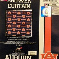 Auburn Tigers NCAA Fabric Shower Curtain (72x72) FREE US SHIPPING