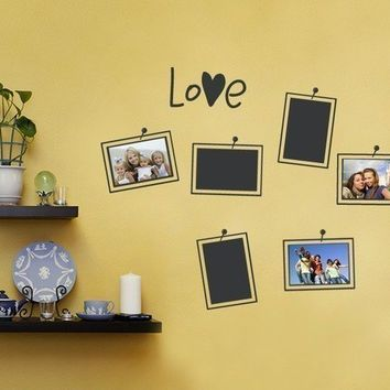 Picture and Photo Frame Layout Decal  Photo Love  by SimpleShapes