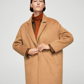 Wool handmade coat - Women | MANGO USA