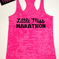Workout Fitness Tank...Little Miss Marathon...Burnout Racerback Tank Top...Little Miss Workout Collection.