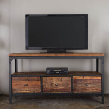 Michael Anthony Natural Reclaimed 3-Drawer Media Console