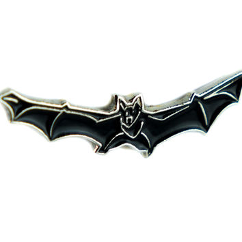 Flying Vampire Bat Lapel Pin Gothic Jewelry Dracula Nosferatu