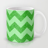 Chevron Jade Mug by Alice Gosling