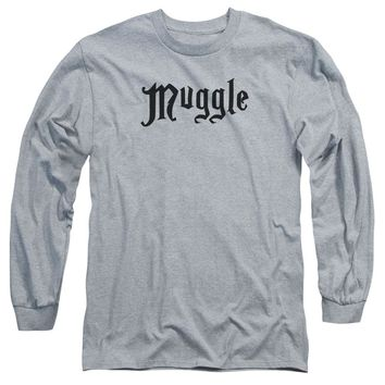 Harry Potter - Muggle Long Sleeve Adult 18/1 Officially Licensed Shirt