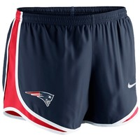 Nike New England Patriots Women's Tempo Performance Running Shorts - Navy Blue