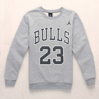 2015 Long-sleeved 23 Lovers Winter Sweatshirt Casual Sport Suit Women Harajuku Panda Brand Clothing Letter Plus Size