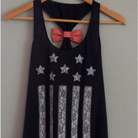SIMPLE - Women Stars And Flag printed Women Tank Vest a11022