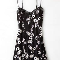 AEO Women's Flower Printed Sundress (Black)