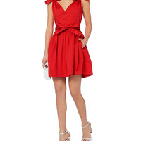 Alexis Sleeveless Poplin Dress - INTERMIX®