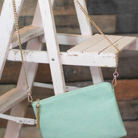 Girl's Time Purse in Mint