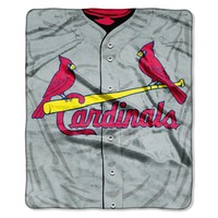 "St. Louis Cardinals 50""x60"" Royal Plush Raschel Throw Blanket - Jersey Design"