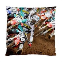"Motocross Dirt Bike Racing Throw Pillow Cover Case 17"" 1-Sided"